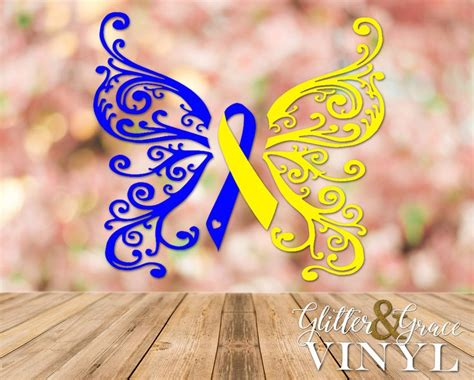 down syndrome butterfly ribbon decal down syndrome