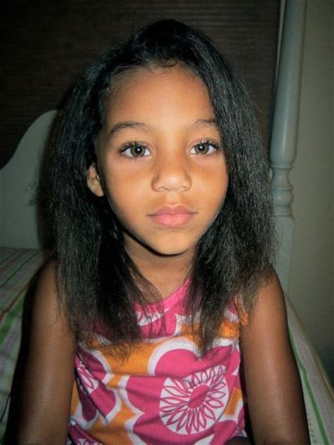Mixed Toddlers Straight Hair Styles | hailey age 4 straightened only once mixed baby biracial