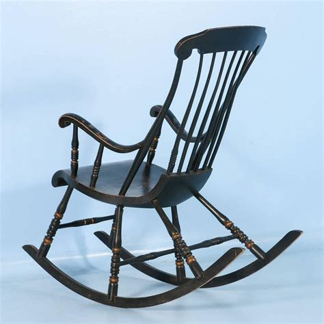 Antique Black Rocking Chair by Antique Black Swedish Rocking Chair With Original Black