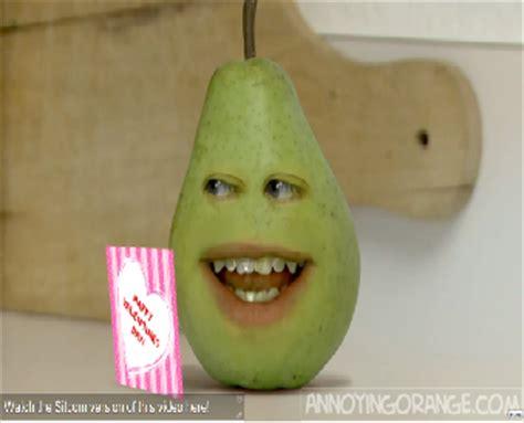 annoying orange valentines image pear s card png annoying orange wiki