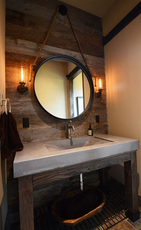 hanging bathroom mirrors best 10 concrete sink bathroom ideas on pinterest
