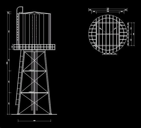 steel water tower dwg block  autocad designs cad