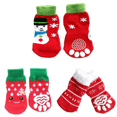 pattern for dog socks 7 styles 4pcs pet dog knit socks pattern printed non slip