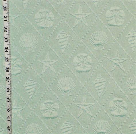 seashell upholstery fabric aqua sea shell fabric