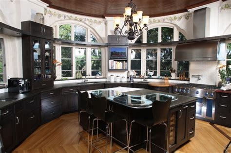 round kitchen design custom kitchen round room contemporary kitchen