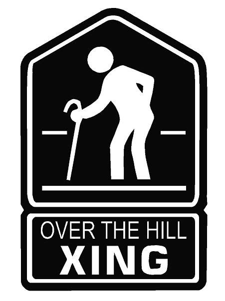 printable over the hill road signs over the hill crossing decal dec horse xing 15 00