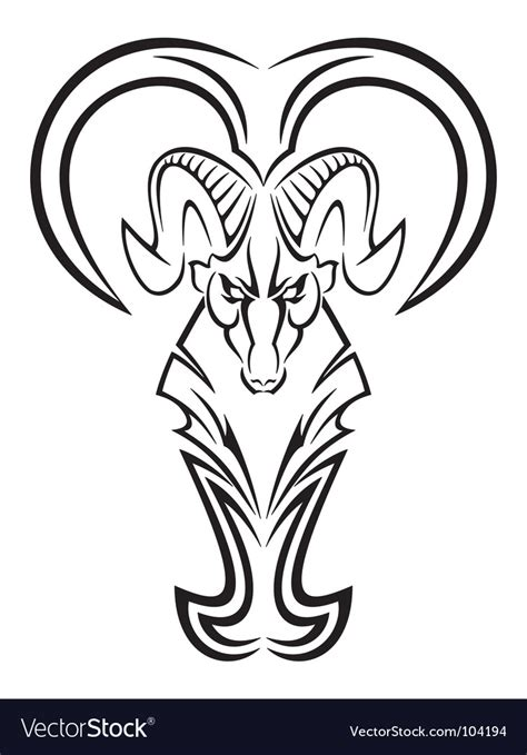 aries sign tribal royalty free vector image vectorstock aries royalty free vector image vectorstock