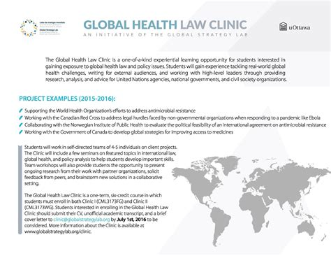 Jd Mba Uottawa by Apply Now For The Global Health Clinic S 2016 2017