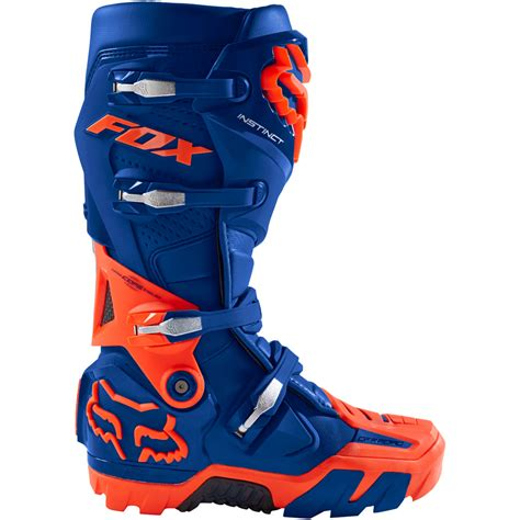 fox motocross boots 2018 fox racing instinct road boots blue sixstar racing