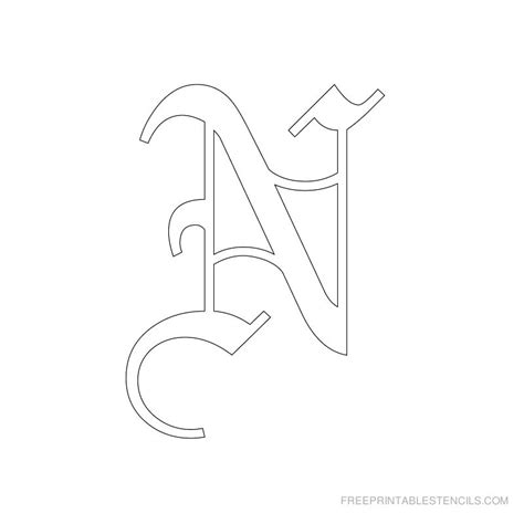 printable old english alphabet letters printable old english letter stencils free printable