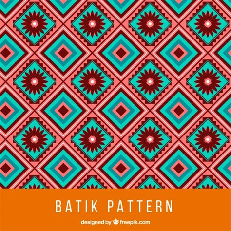batik pattern vector ai batik pattern with squares and flowers vector free download