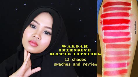 Wardah Intensive wardah intensive matte lipstick review and swatches