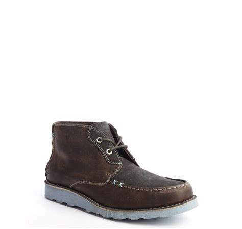 penguin chukka boots original penguin grey and brown suede and leather chukka