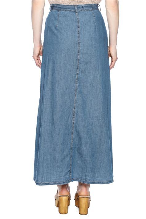 Indiana Style Maxi jw signature denim maxi skirt from indiana by mink