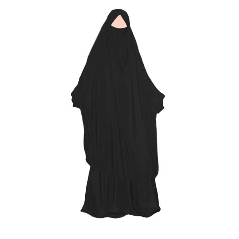 khimar set with baggy sunna black style
