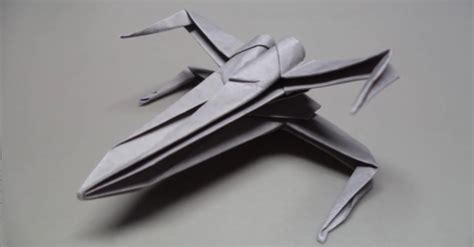 X Wing Origami - do it yourself wars x wing fighter aus papier falten