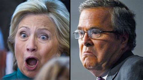 Bush Vs Clinton by Bush V Clinton When The Frontrunners Launched Caigns