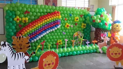 jungle themed balloon decorations balloon jungle theme birthday theme decorations