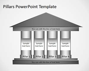 Online Building Drawing Tool free 4 column pillars powerpoint template