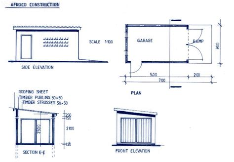 12 Cool Dimensions Of 1 Car Garage House Plans 6372 Width Of Single Garage Door