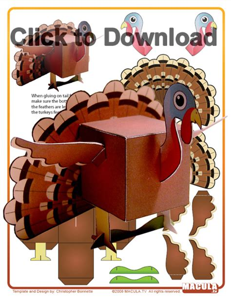 Turkey Papercraft - papercraft thanksgiving