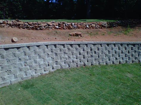 Home Depot Decorative Bricks by Retaining Walls Block Aca Landscaping