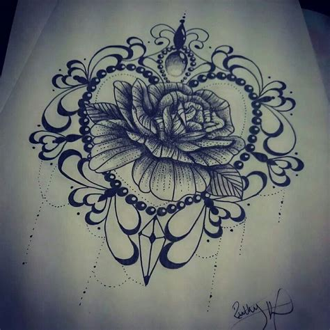 girly rose tattoo designs blackwork design find me on ruth