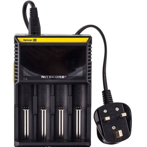 Nitecore Charger For Vaporizer nitecore d4 vape battery charger four bay uk eliquid shop
