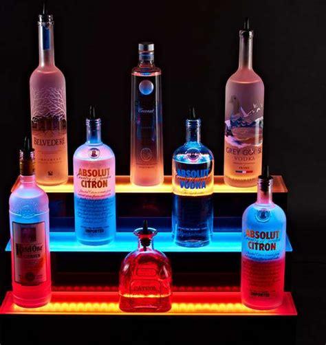 diy lighted bar shelves illuminated led bar shelves bar shelves