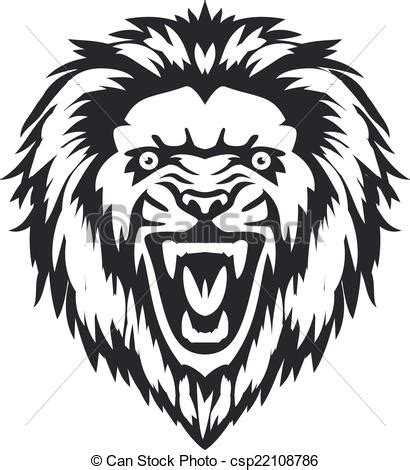 lion head front vector stylish illustration of lion head
