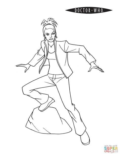 dr who coloring pages martha jones from doctor who coloring page free