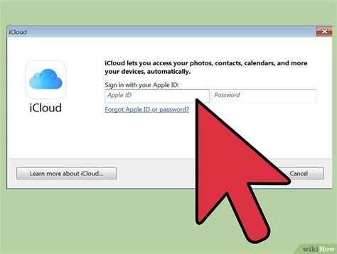 cara membuat icloud di komputer cara mengakses foto icloud dari pc wikihow