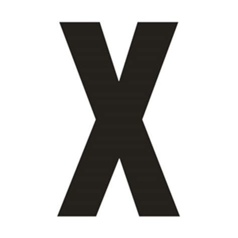 large printable letter x solid capital x