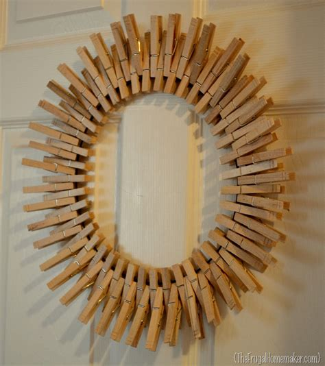 Wreath Ideas For Front Door by Pinterest Inspired Project Clothespin Wreath