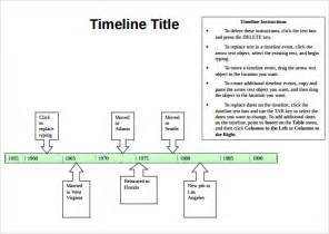 document templates in word sle timeline 9 documents in pdf word excel ppt
