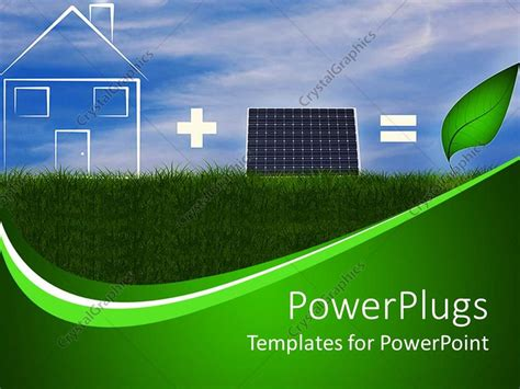 Powerpoint Template The Concept Of Green Energy Related To Solar Panels 10420 Green Energy Powerpoint Template