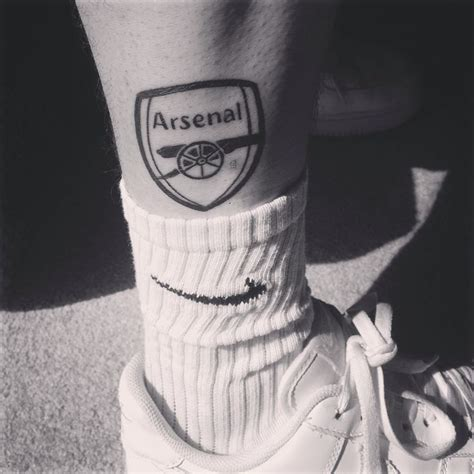 arsenal tattoo quot till i die quot arsenal fc black and white