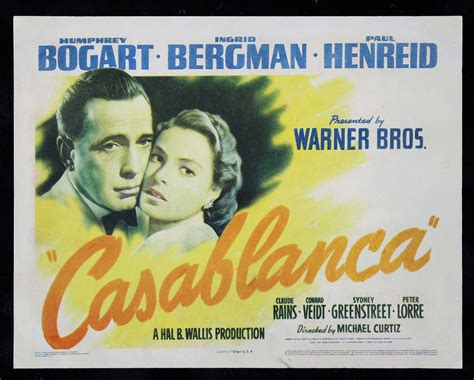 Or Original Casablanca Cinemasterpieces Original Poster Title Lobby Card 1942 Ebay