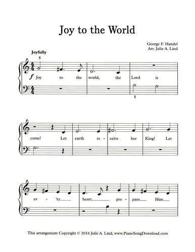 printable version of joy to the world joy to the world easy printable christmas carol from www