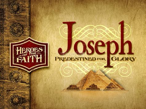 Website To Design Your Dream Home Joseph Powerpoint Template Heroes Of The Bible Powerpoints