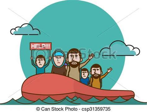 how to draw a refugee boat syrian refugees on boat civil war in syria