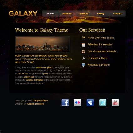 blogger themes galaxy galaxy design free website templates in css html js