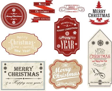 new year label vector gift tags and labels free vector in adobe