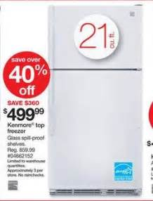 amazon black friday top freezer refrigerator kenmore 21 0 cu ft top freezer refrigerator sears