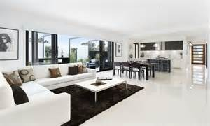 open plan kitchen dining living room modern 14097