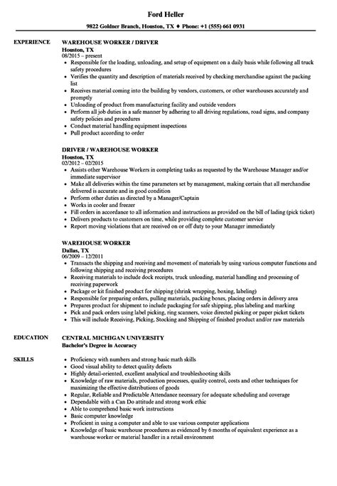 sample warehouse resume sample resume sample resume templates for