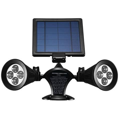 solar spot lights amazon solar lights outdoor waterproof dual spotlights rotatable