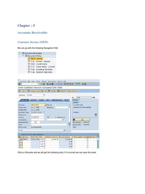 sap tutorial for accounts receivable sap accounts receivable training tutorial