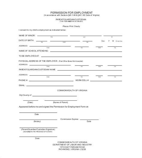 Parent Governor Vacancy Letter Application For Employment Certificate Format