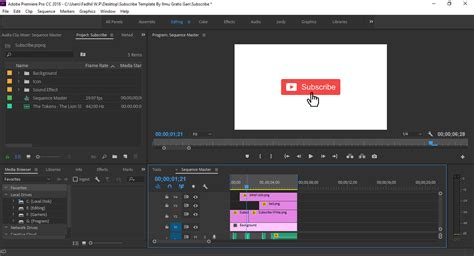 Free Download Template Subscribe Motion Graphic Di Adobe Premiere Ilmu Gratis Gan Free Motion Graphics Template Premiere Pro